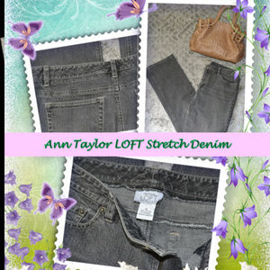 GUC   Ann Taylor LOFT Stretch Denim Speckled Black